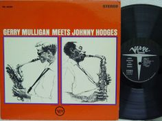 Gerry Mulligan Meets Johnny Hodges. One of the four Gerry Mulligan albums on Verve reissued in the 1960's with Mozelle Thompson artwork. One of the Jazz album covers illustrated by Mozelle Thompson that I'll have on display next month during the Pittsburgh JazzLive Festival.