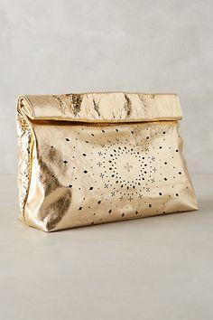 gold surya clutch #a