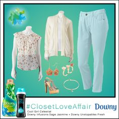 This Cool Girl Celestial look was inspired by Downy Infusions Sage Jasmine and Downy Unstopables Fresh. With the unexpectedly cool pop of airy-blue pants, you'll feel sky high all day long. To shop this look, visit the LC Lauren Conrad collection available only at Kohl's. To register for the #ClosetLoveAffair sweepstakes visit https://downy.promo.eprize.com/pinterest/.