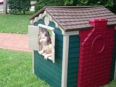 Little Tike Playhouse Makeover - gets historic preservation approval!  ;)
