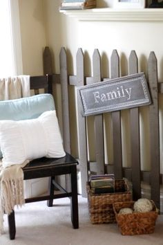 Picket fence wall decor.
