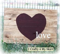 Love Sign with Heart by 2Crafty4MySkirt on Etsy