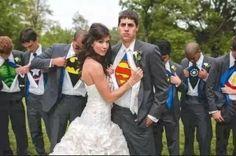 Idea para foto con los padrinos de super héroes
