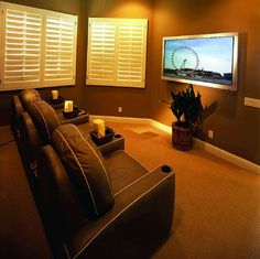 Small Home Theater Room Ideas | Slideshows: Home Theater for Small Rooms, Flat-Panel Solutions ...