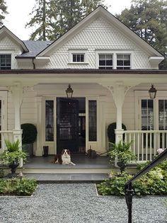 Home exterior: farmhouse cottage blend .