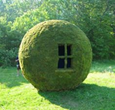 Moss Sphere (aka the coolest playhouse in the yard)