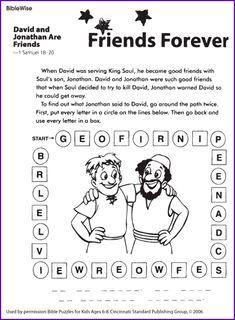 David and Jonathan Friends (Puzzle) - Kids Korner - BibleWise