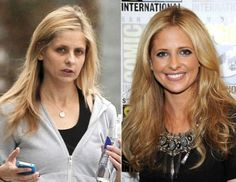 """Still want to look """"just like her""""? Dozens of celebrities before makeup or photoshop."""