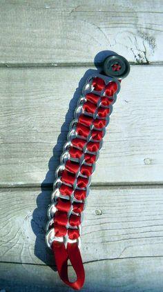 pop top bracelet using ribbon & button pop top bracelet