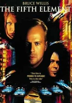 The Fifth Element (1997) New York City in the 23rd century is a madhouse of flying taxis, street gangs and media overload in director Luc Besson's science-fiction-inspired vision of a tomorrow that seems to have all the right elements. Cabbie Bruce Willis is a regular guy ... and the universe's last hope for survival as he helps the embodiment of love and life (Milla Jovovich) fight the darkness unleashed by the crazed Zorg (Gary Oldman).