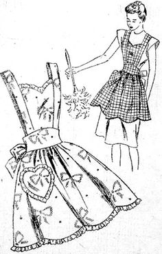 circa 1951: Syndicate 3018  click on broken link for pattern pieces - no instructions