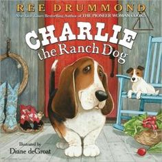 Charlie the Ranch Dog by Ree Drummond. Follow the link and scroll down the Barnes & Noble page to find the video. http://www.barnesandnoble.com/w/charlie-the-ranch-dog-ree-drummond/1100151871?ean=9780061996559