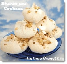 Meringue Cookies.  Fluffy goodness for the holiday platter.  ~ Lisa