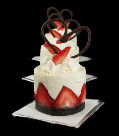 wow. strawberry yogurt mousse cakes