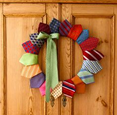 Father's Day Tie Wreath