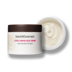 @bareMinerals Extra Firming Neck Cream: A fan favorite! This all-in-one cream targets the neck and décolleté and  gives the appearance of firmer skin and help improve skin texture and smoothness.