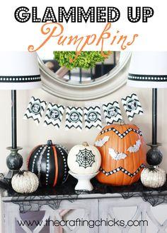 Glammed Up Pumpkins by @Matty Chuah Crafting Chicks #MPumpkins