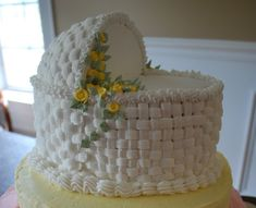White Baby Carriage Cake