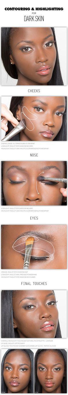 highlight, makeup contouring