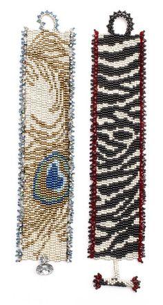 Animal-print bracelets. Find more projects on BeadAndButton.com