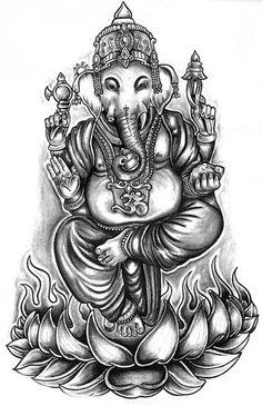 Ganesh Tattoo Designs   90 Nine Tattoo Designs - Hindu Tattoo Designs