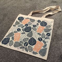 Block Printed Tote Bag using Indian Printing Blocks & Fabric paint from The Arty Crafty Place
