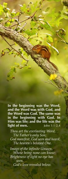 In the beginning was the WORD..1 John 1