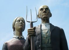 Eccentric Roadside: I Goth You, Babe: The American Gothic sculpture of Trenton, New Jersey