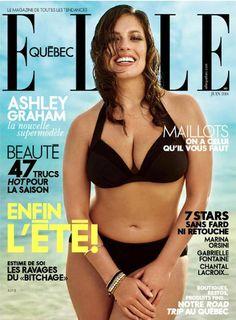 Ashley Graham on ELLE Quebec June 2014 Cover