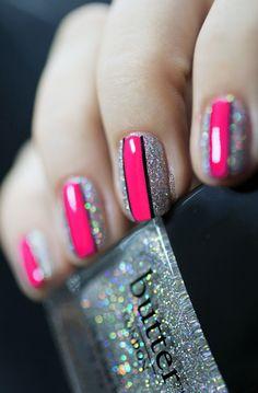 fairy cakes, nail polish, butter london, pink nails, nail art designs, sparkle nails, nail arts, fairi, stripe