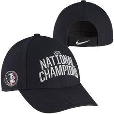 Nike Florida State Seminoles (FSU) 2013 BCS National Champions Locker Room Coach's Adjustable Hat - Black bcs championship, bcs bowl, bowl champion, champion apparel, florida state seminoles