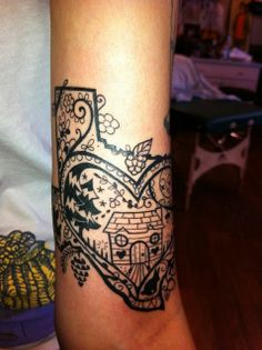 Texas tattoo. by sherrisink, via Flickr I'd love something similar to this... color landscape in texas