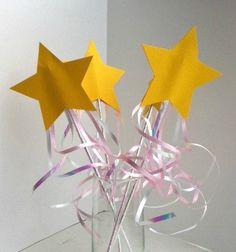 Easy to make wands pinkalici parti, fairygarden parti, fairi wand, princess parti, princess party, parti idea