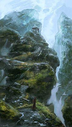 Beautiful Mountain Digital Art