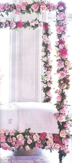 Roses on the bedposts