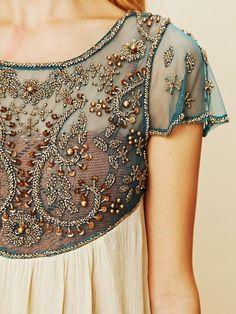 ALLURE Beautiful Embroidered Chiffon Dress