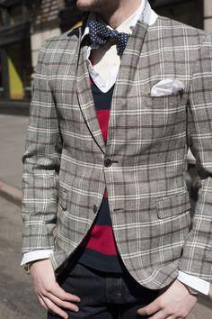dots stripes plaids preppy boy bow tie