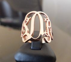 Monogram Ring. Personalized 925 ct Sterling by istanbuljewel, $34.50