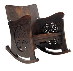 Charles Rohlfs (American, 1853–1936), Rocking Chair, ca. 1899. Oak, leather, and metal tacks; 32 1/2 x 24 3/4 x 33 inches.