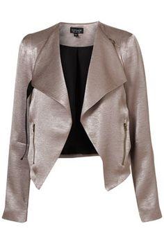 Bronze biker jacket