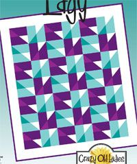 Edgy Quilt Pattern from Crazy Old Ladies at KayeWood.com http://www.kayewood.com/item/Edgy_Quilt_Pattern/2876 $9.00