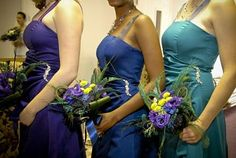 wedding flowers, bridesmaid bouquets