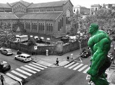 Hulk in Mercat Galvany