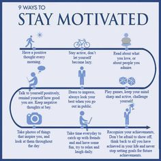 9 ways to stay motivated