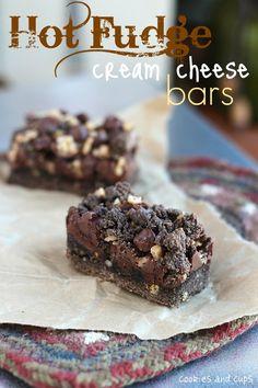 Hot Fudge Cream Cheese Bars