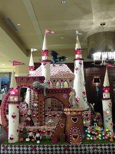 Alice in Wonderland Castle Gingerbread House