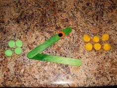 stick, math centers, teaching math, art, math activities, alligators, game, number sense, paper plates