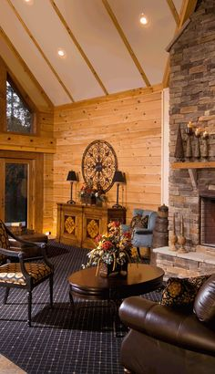 warm and inviting rustic interior