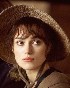 "Keira Knightly as Elizabeth Bennett in ""Pride and Predjudice"""