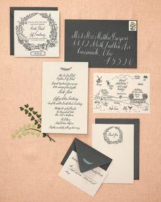 pretty invitation suite by @Susan Caron Caron Caron Caron Imasa-Stukuls via @Martha Stewart Weddings Magazine
